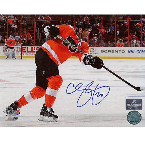 Chris Pronger Flyers Slapshot Signed Photo 8X10