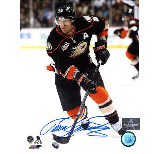 Teemu Selanne Anaheim Ducks Signed 8X10 Action Photo