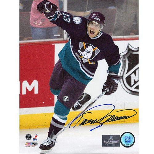 Teemu Selanne Anaheim Mighty Ducks Signed 8X10 Photo
