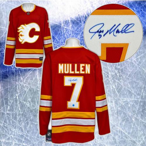 Joe Mullen Calgary Flames Signed Retro Fanatics Hockey Jersey