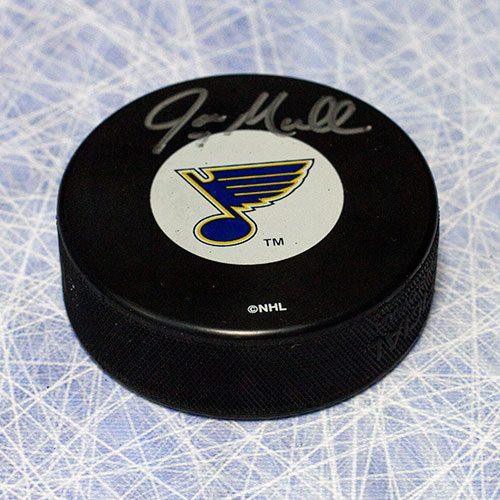 Joe Mullen St Louis Blues Signed Hockey Puck