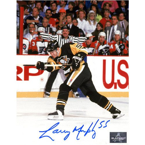 Larry Murphy Pittsburgh Penguins Signed 8X10 Photo
