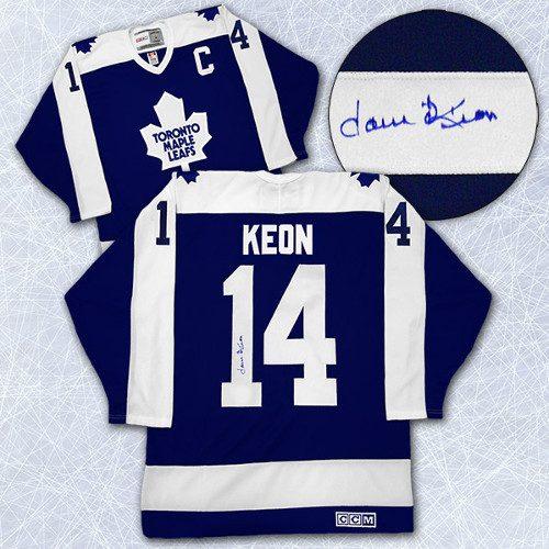 Dave Keon Toronto Maple Leafs Autographed Captain Retro CCM Hockey Jersey
