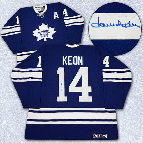 Dave Keon Signed Jersey Toronto Maple Leafs Retro CCM