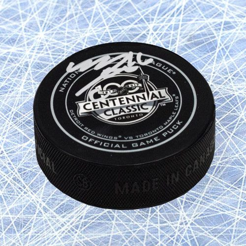 Mitch Marner Autographed Puck Toronto Maple Leafs Autographed 2017 Centennial Classic
