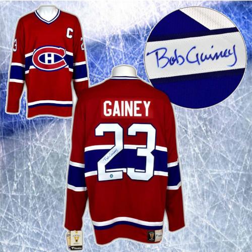 Bob Gainey Montreal Canadiens Autographed Fanatics Vintage Hockey Jersey