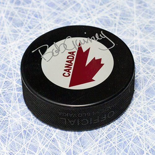 Bob Gainey Team Canada-Canada Cup Signed Hockey Puck