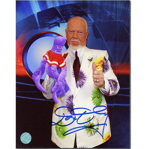 Don Cherry Detroit Octopus Autographed Coaches Corner 8x10 Photo