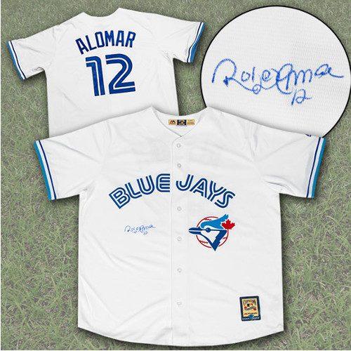 Roberto Alomar Signed Jersey-Toronto Blue Jays Retro Jersey