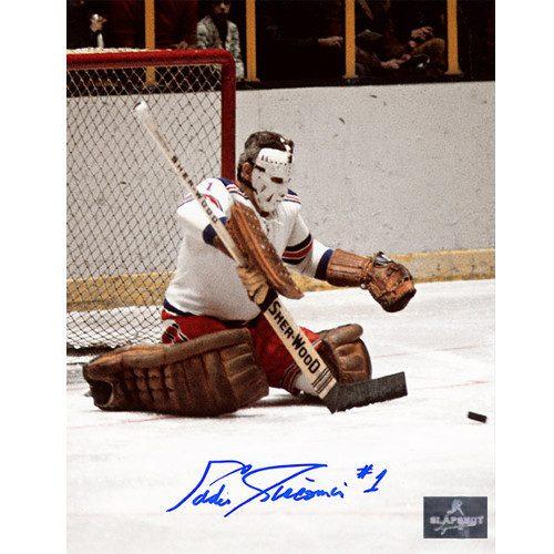 Ed Giacomin Goalie Save New York Rangers Autographed Photo 8x10