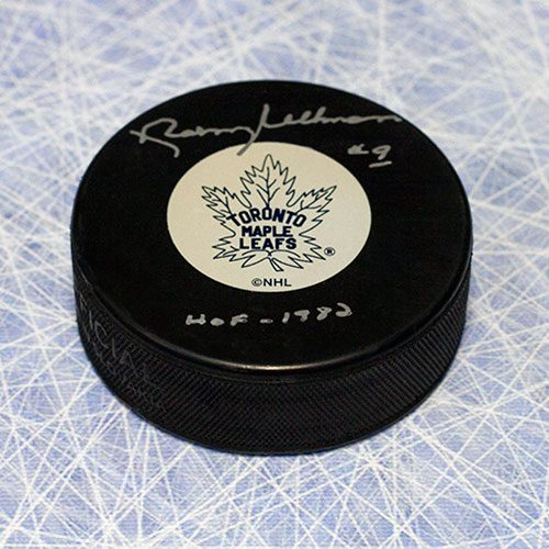 Norm Ullman Hockey Hall of Fame Signed Puck-Toronto Maple Leafs