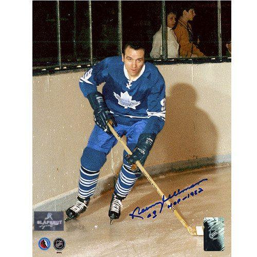 Norm Ullman Toronto Maple Leafs Signed Hockey Legend Photo 8x10
