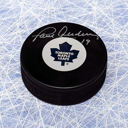 Paul Henderson Toronto Maple Leafs Autographed Hockey Puck