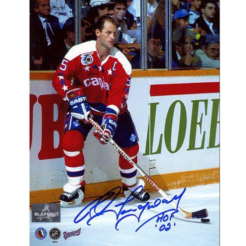 Rod Langway Autographed Photo-Washington Capitals Captain 8x10 Photo