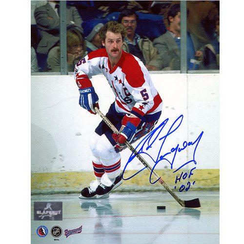 Rod Langway Autographed Photo-Washington Capitals Home Ice 8x10 Photo
