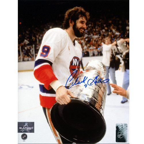 Clarke Gillies New York Islanders Autographed Stanley Cup 8x10 Photo