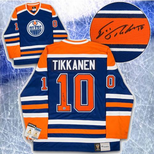 Esa Tikkanen Edmonton Oilers Signed Fanatics Vintage Hockey Jersey