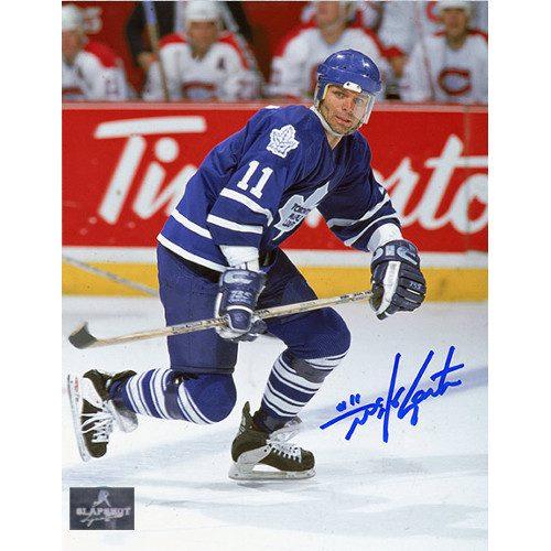 Mike Gartner Toronto Maple Leafs Autographed Skating 8x10 Photo