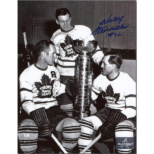 Wally Stanowski Stanley Cup Toronto Maple Leafs Autographed 8x10 Photo