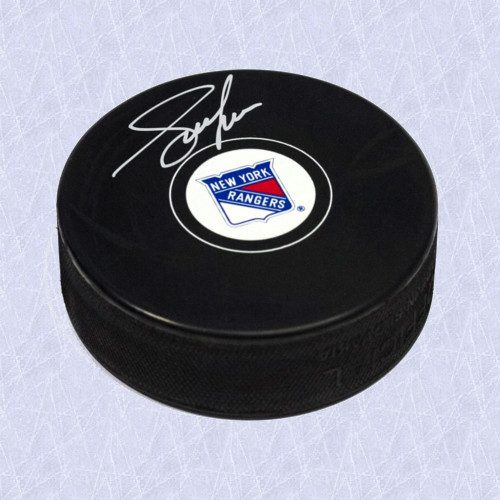 Adam Graves Signed Hockey Puck-New York Rangers