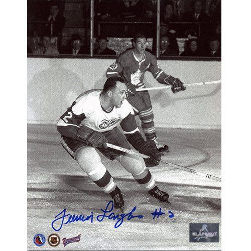 Albert Junior Langlois Detroit Red Wings Autographed 8x10 Photo
