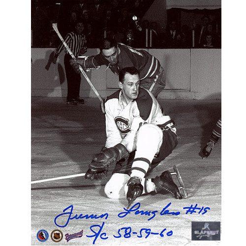 Albert Junior Langlois Montreal Canadiens Autographed 8x10 Photo