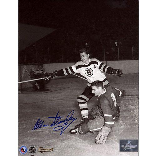 Allan Stanley Boston Bruins Autographed Original Six Action 8x10 Photo