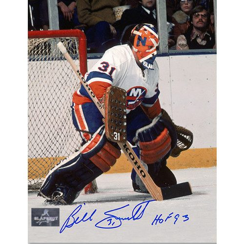Billy Smith Autographed Goalie With Painted Mask 8x10 Photo-New York Islanders