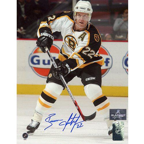 Brian Leetch Boston Bruins Autographed Action 8x10 Photo