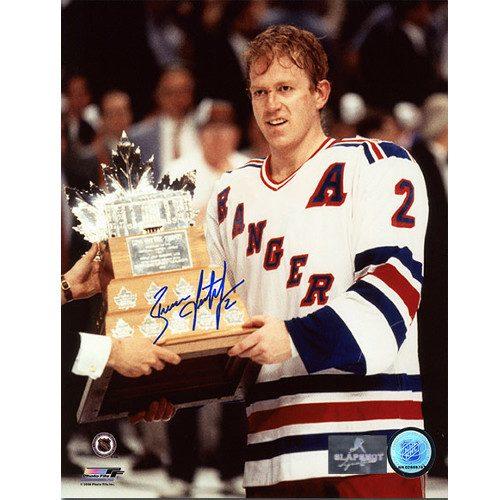 Brian Leetch Conn Smythe 1994 Autographed 8x10 Photo-New York Rangers