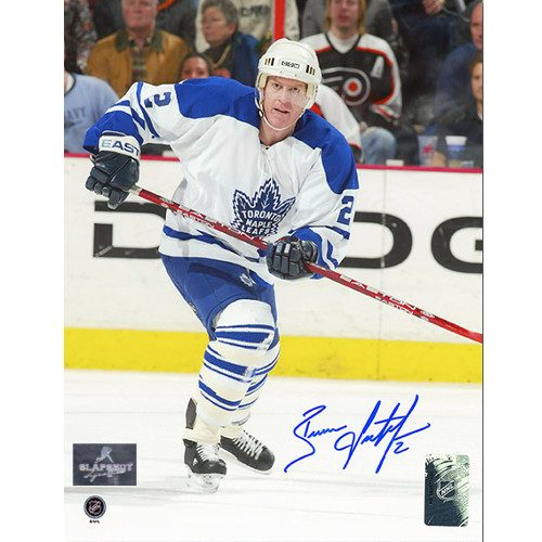 Brian Leetch Toronto Maple Leafs Autographed Action 8x10 Photo