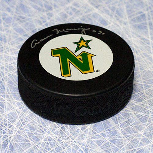 Cesare Maniago Autographed Minnesota North Stars Hockey Puck