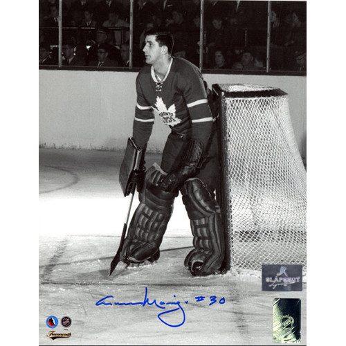 Cesare Maniago Toronto Maple Leafs Autographed Goalie 8x10 Photo