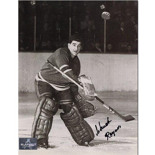 Chuck Rayner Goalie Action New York Rangers Autographed 8x10 Photo