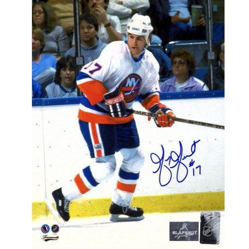 Greg Gilbert New York Islanders Autographed Hockey 8x10 Photo