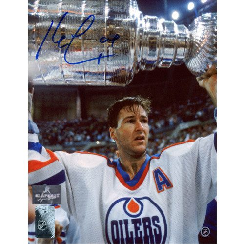 Kevin Lowe Edmonton Oilers Autographed Stanley Cup 8x10 Photo