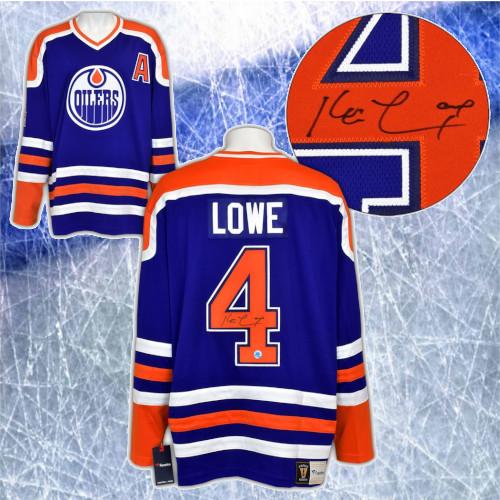 Kevin Lowe Edmonton Oilers Signed Fanatics Vintage Hockey Jersey