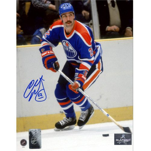 Charlie Huddy Edmonton Oilers Autographed Hockey Action 8x10 Photo