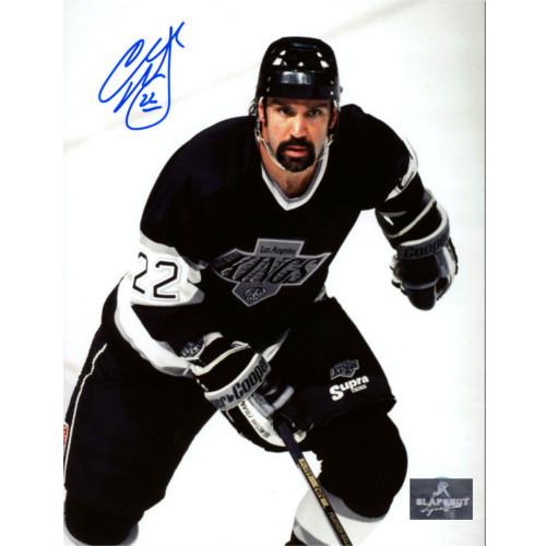 Charlie Huddy Los Angeles Kings Autographed Closeup Hockey 8x10 Photo