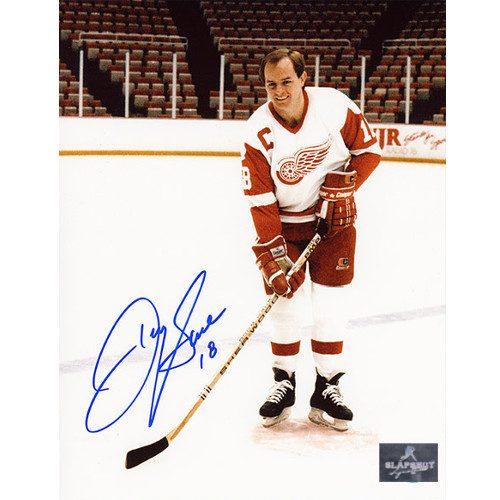 Danny Gare Detroit Red Wings Autographed Captain 8x10 Photo