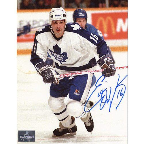 Ed Olczyk Toronto Maple Leafs Autographed Hockey 8x10 Photo