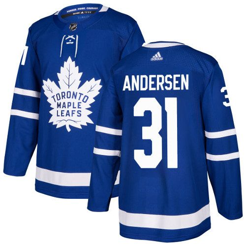 Frederik Andersen Toronto Maple Leafs Adidas Authentic Home NHL Jersey