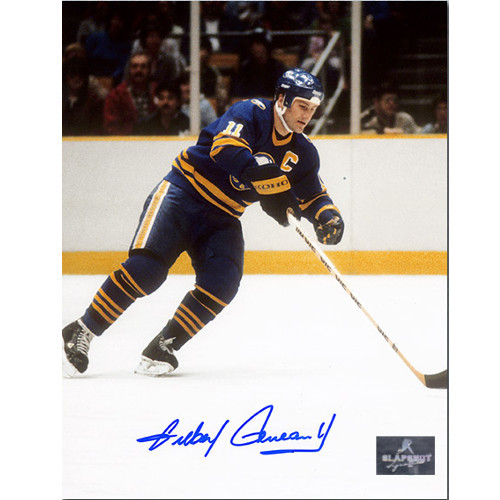 Gilbert Perreault Autographed Playmaker 8x10 Photo-Buffalo Sabres
