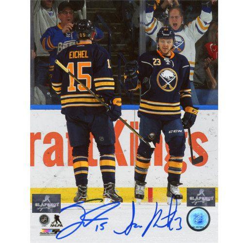 Jack Eichel Sam Reinhart Buffalo Sabres Dual Signed Young Stars 8x10 Photo