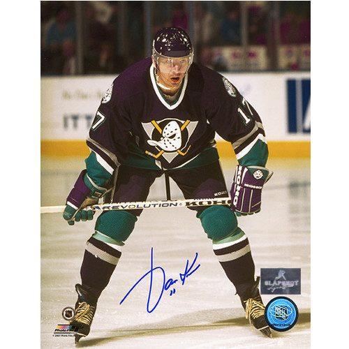 Jari Kurri Anaheim Mighty Ducks Autographed Hockey 8x10 Photo
