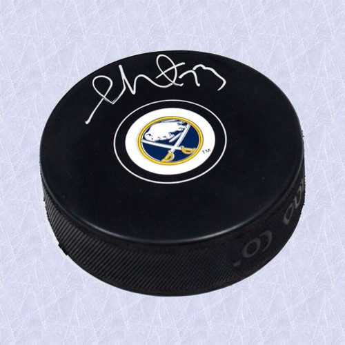 Sam Reinhart NHL Autographed Hockey Puck-Buffalo Sabres