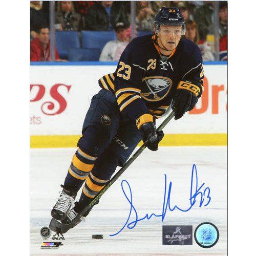 Sam Reinhart Sabres Autographed Hockey Action 8x10 Photo