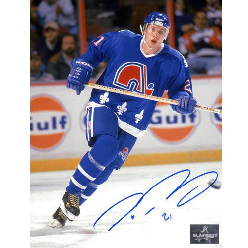 Peter Forsberg Signed Photo Quebec Nordiques Rookie 8x10