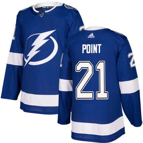 Brayden Point Tampa Bay Lightning Adidas Authentic Home NHL Hockey Jersey