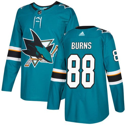 Brent Burns San Jose Sharks Adidas Authentic Home NHL Hockey Jersey